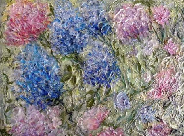 """""""A Rhapsody of Hydrangeas"""" by Sheila Mancini."""
