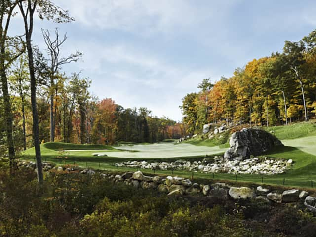In the off-season, the Pound Ridge Golf Club course is one of the most beautiful in New York.