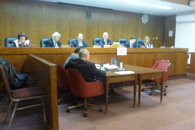 The Harrison Town Board discusses the preliminary budget at its Monday night meeting.