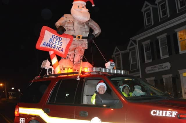 The Yorktown Heights Volunteer Fire Department will continue its Christmas tradition and hand out candy canes Sunday.