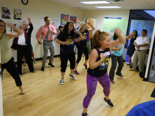 Open Door Family Medical Center celebrated National Health Center Week with Zumba and T'ai Chi demonstrations.