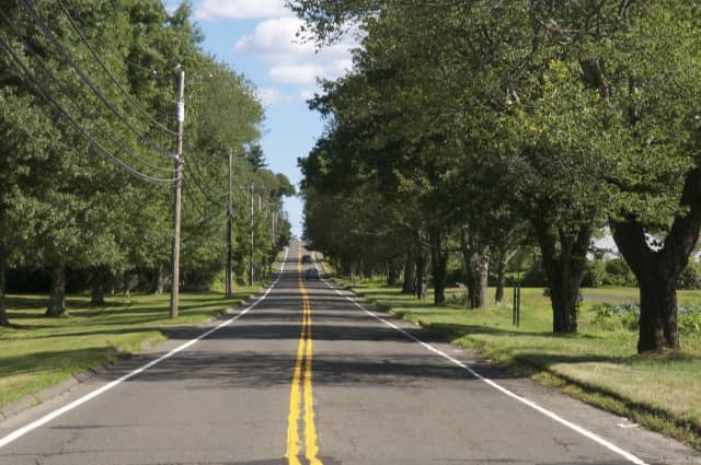 Sport Hill Road in Easton, one of the safest communities in the state.