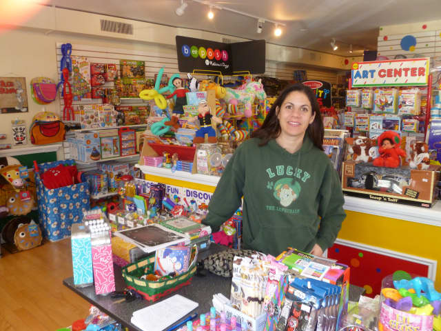 Dawn Decker, owner of the new Lil Beans Toy & Sports store in Pound Ridge, says she'll try to hold special events at the store each month.