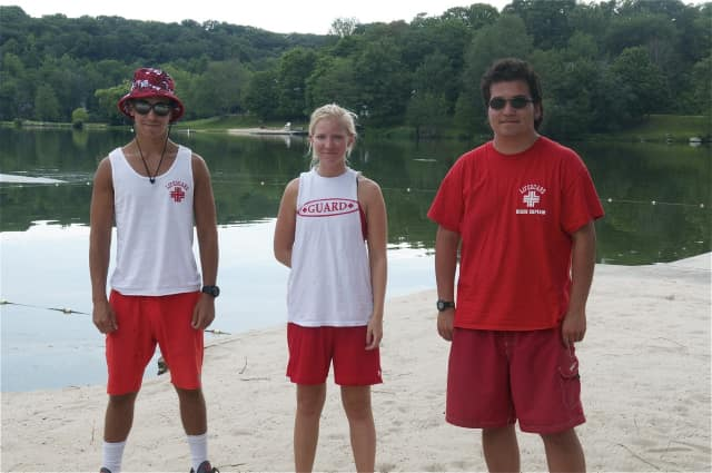 Lifeguards at the ready to help beachgoers beat the heat.