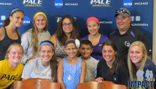 Julianna Vano, a 10-year old from Yorktown Heights, was signed by the Pace University women's soccer team