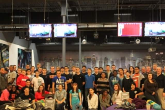 Young people from various Police Explorer posts in Westchester County celebrated Wednesday at Grand Prix New York Racing/Spins Bowl in Mount Kisco. The posts give students from ages 14 to 20 a chance to learn about careers in law enforcement.