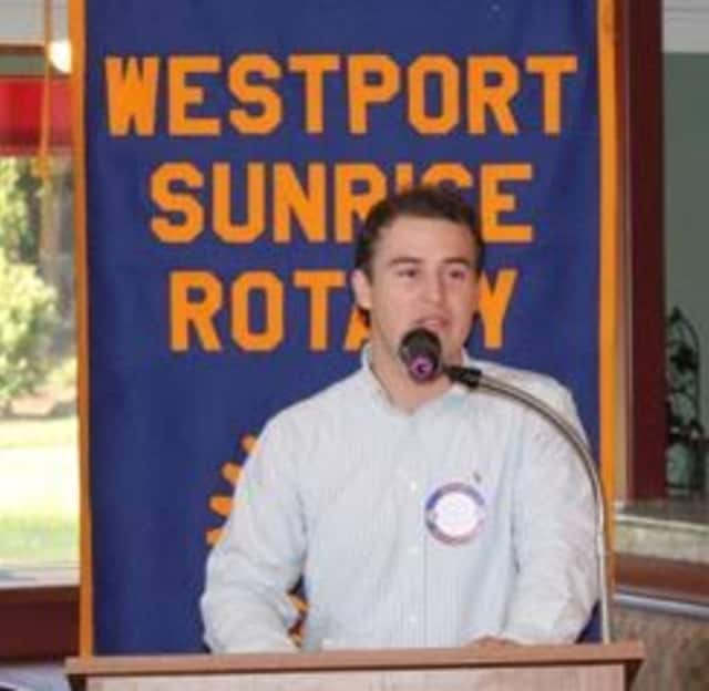 Jacob Meisel, a 19-year-old from Westport headed to his junior year at Harvard, tells the Westport Sunrise Rotary how he makes money by forecasting the weather.