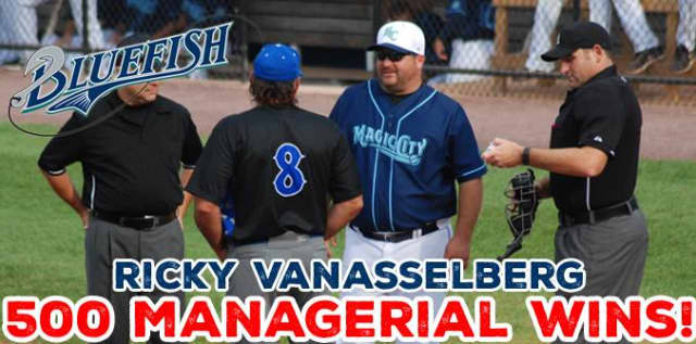 Manager Ricky Van Asselberg notched his 500th career win in Texas.