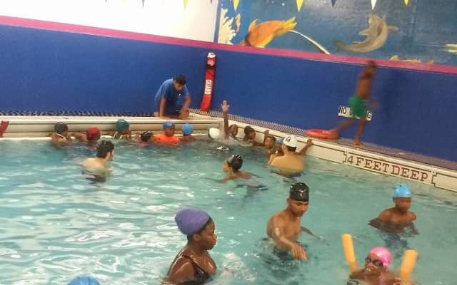 Swimming lessons were part of Y-COP summer camp.