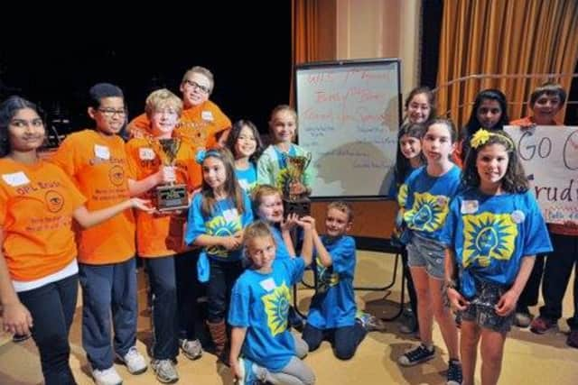 Competitors at the 2014 Westchester Library System's Battle of the Books Tournament.