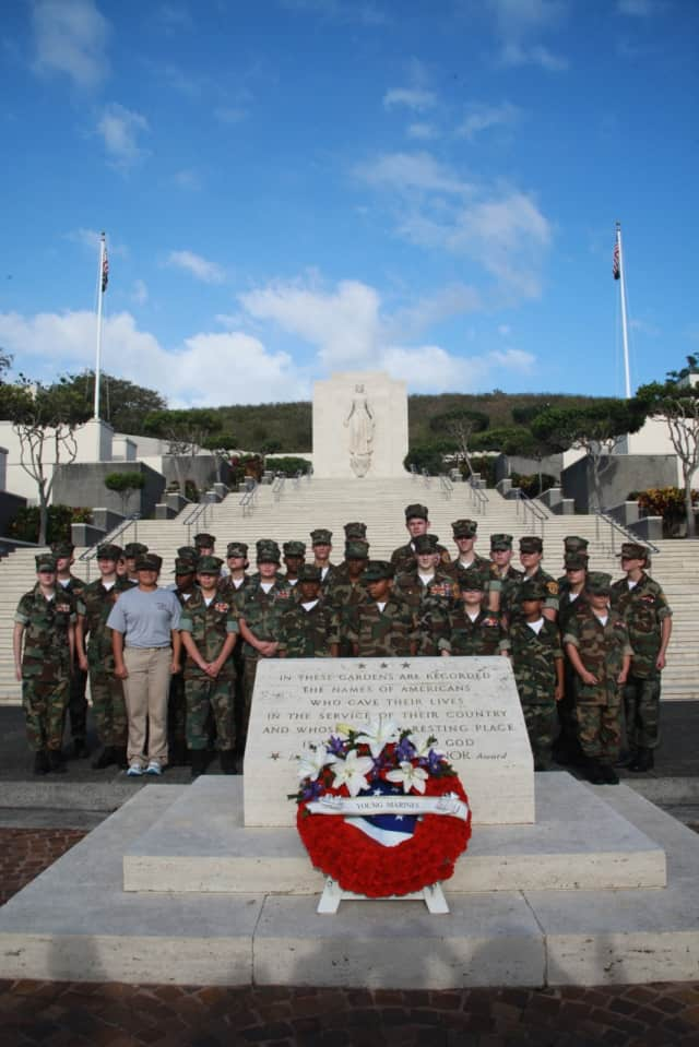 Young Marines from across the country were chosen to travel to Honolulu for a recent anniversary of the attack on Pearl Harbor.