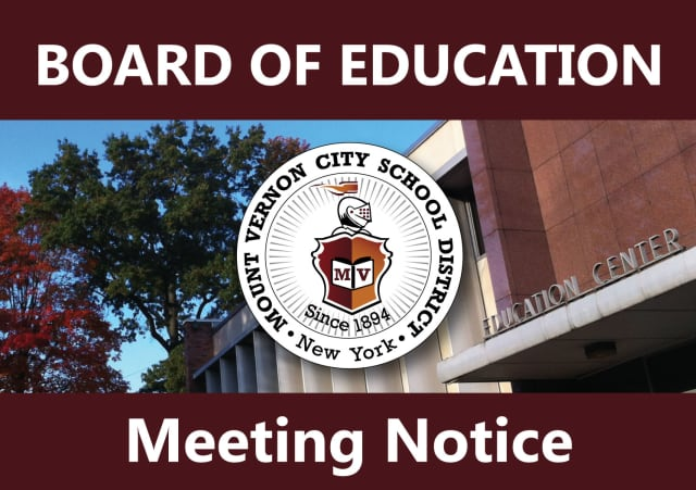 The Mount Vernon Board of Education is holding a meeting tonight.