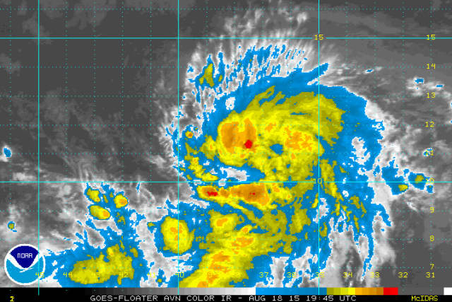 Tropical Storm Danny could become the first hurricane of the 2015 Atlantic season.