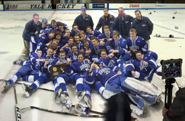 The Darien High School boys hockey team, which won the Division I championship, was named the Sports Person of the Year for Darien by the Fairfield County Sports Commission.