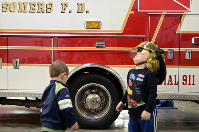 The Somers Fire Department makes its annual candy-cane run on Saturday.