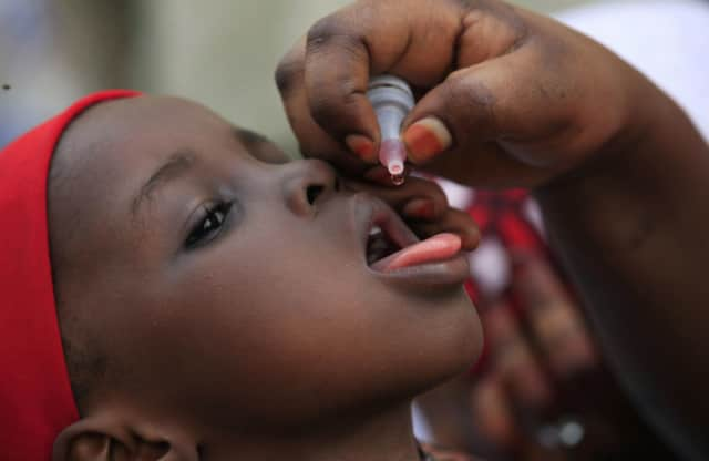 The Northeast Westchester Rotary Club participates in Rotary International's effort to eradicate polio.