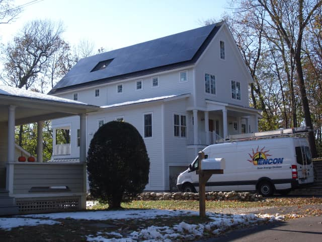 Solar panels are being installed on homes throughout Connecticut through the state-sponsored Solarize Connecticut program.