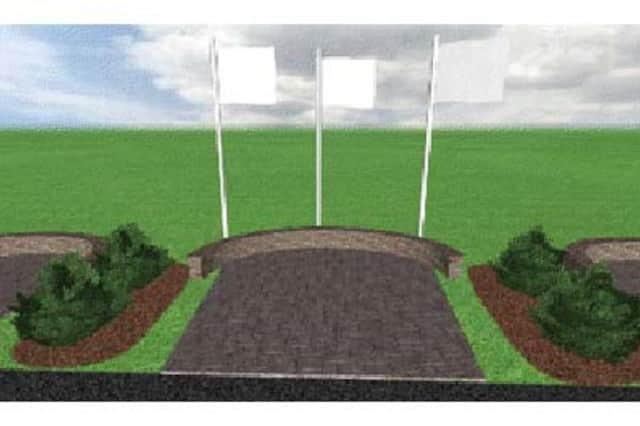 Engraved bricks will be used in a patio design at the Somers High School athletic fields.