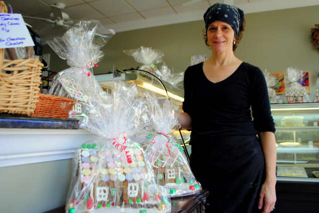 Susan O'Keefe stands in her bakery, Baked By Susan, in Croton-On-Hudson.