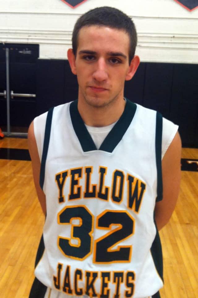 Senior captain Joe Tino led the Hastings High School basketball team to victory Thursday.