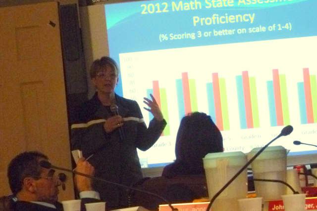 Kathleen Conley, chief information officer for the Public Schools of the Tarrytowns, discusses student performance on the 2011-12 state assessments.