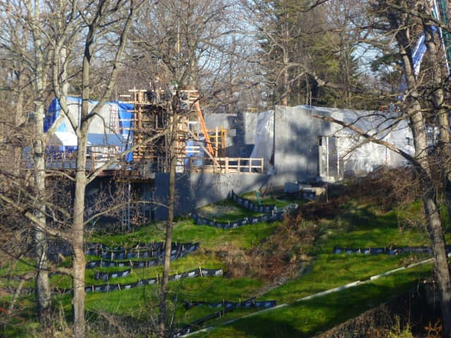 The Shaw Estate is being built in Hastings-on-Hudson on a hill above the Hudson River.