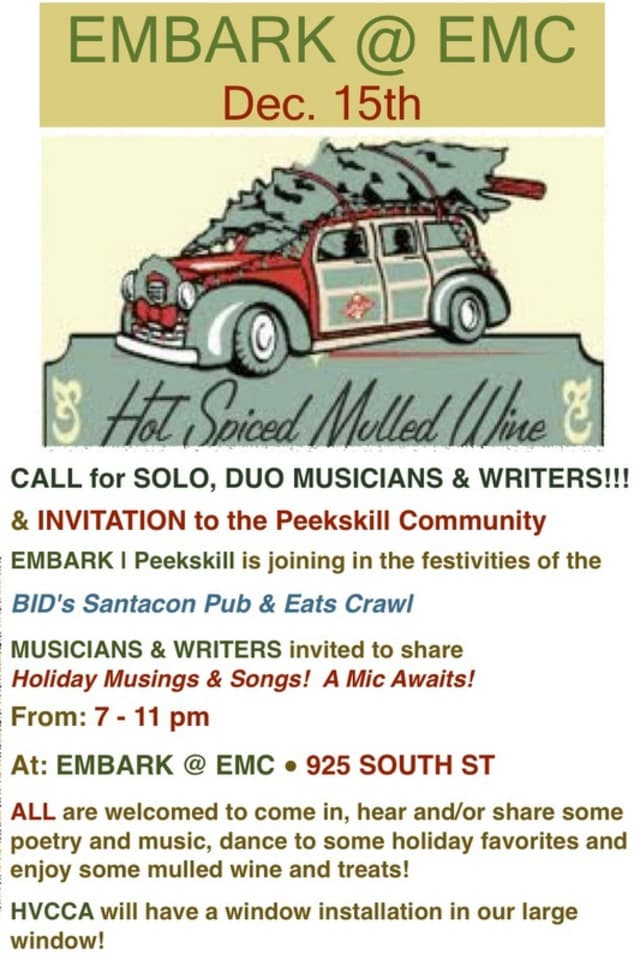 EMBARK Peekskill will be joining the holiday festivities Saturday with a show at Energy Movement Center.