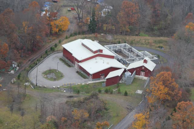 North Salem's Peach Lake Sewer Treatment Plant blends into the landscape with its barnlike design.