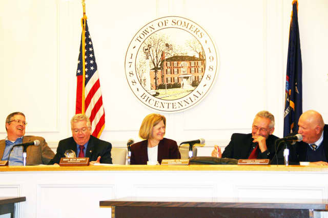 The Somers Town Board adopted the budget at last week's meeting.