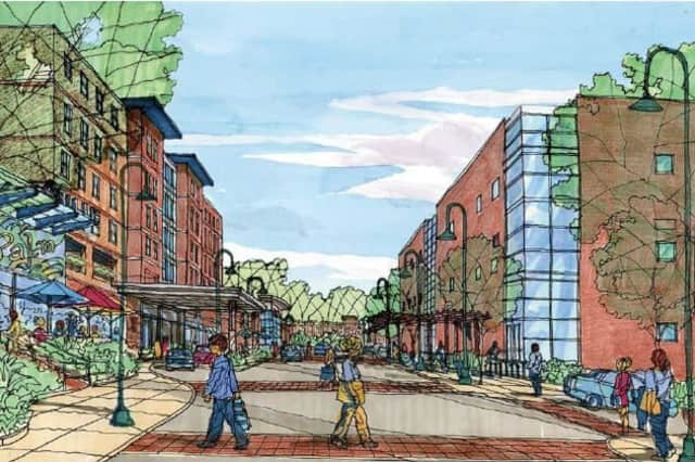 A rendering of the proposed Rivertowns Square project.