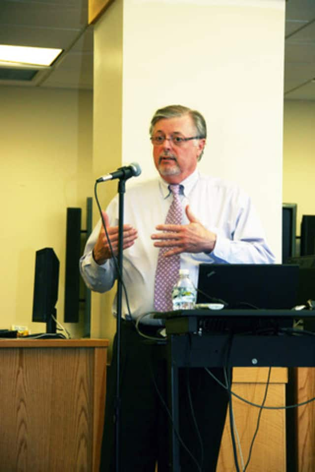 North Salem Superintendent of Schools Kenneth Freeston discusses the proposed 2012-13 budget in March.