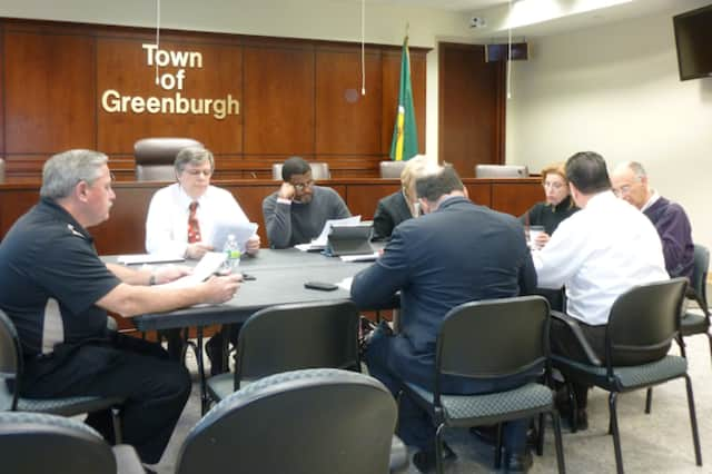 The Greenburgh Town Board met Tuesday to approve the 2013 budget and to settle a contract with the Teamsters Union.