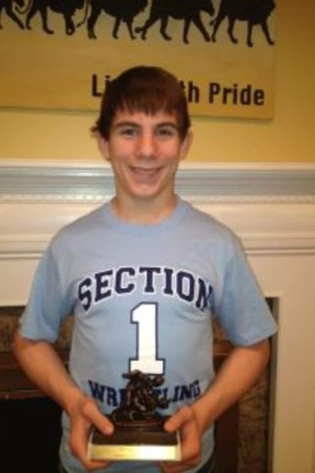 Edgemont senior Trey Aslanian set a new varsity wrestling record over the weekend with 155 career wins.