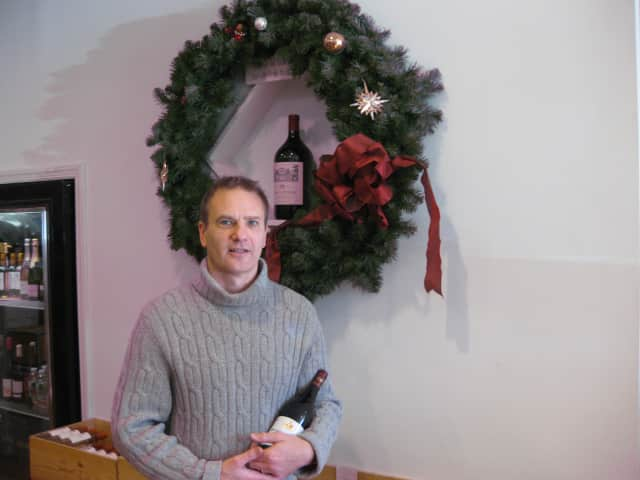Kirk Sprenger, owner of Chappaqua Wine & Spirit Co at 65 King St., relies on wine tastings and orders of boutique brands to enhance his store's holiday inventory.