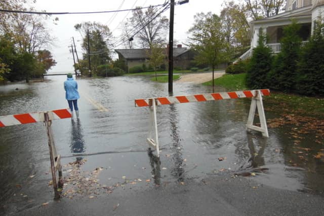 Orienta Avenue and Flagler Drive were among the sites flooded by Hurricane Sandy