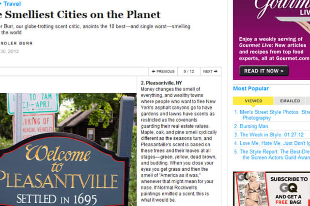 GQ Magazine recognized little Pleasantville as one of the best smelling cities in the world this year.
