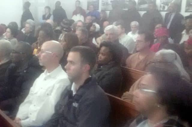 Mount Vernon residents turned out Friday to oppose the proposed city budget even though the property tax increase was whittled down to 6.5 percent from the originally proposed 9.8 percent.