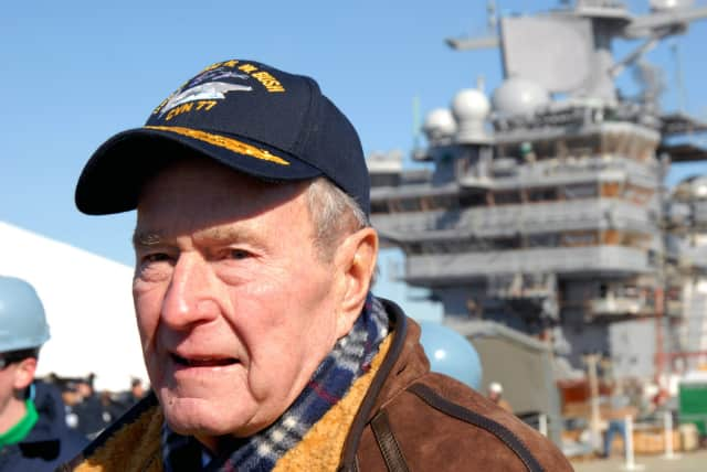 Former President George H.W. Bush is in intensive care in Houston.