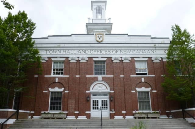 New Canaan Town Hall is closed in advance of planned renovations.