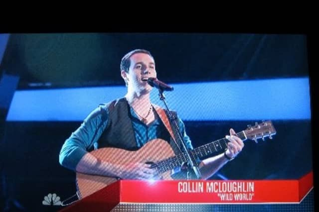 """This fall, Bedford singer Collin McLoughlin appeared on NBC's singing competition show """"The Voice."""""""