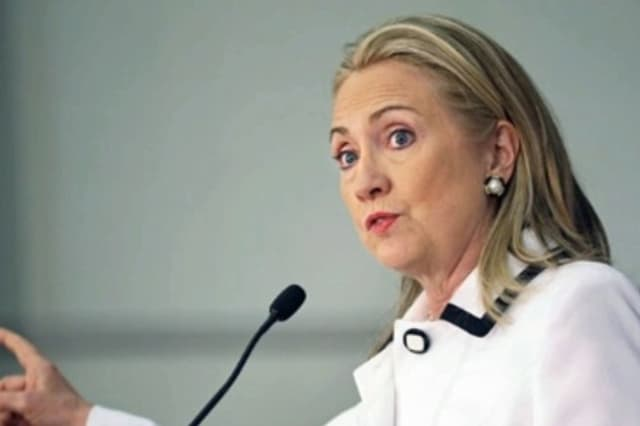 Secretary of State Hillary Clinton was hospitalized Sunday after doctors discovered a blood clot during a follow-up check-up for a concussion she sustained earlier in the month, CNN reports.
