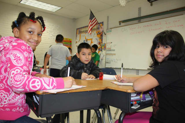 Hillcrest Elementary School students wrote letters to 114 deployed soldiers during the month of December