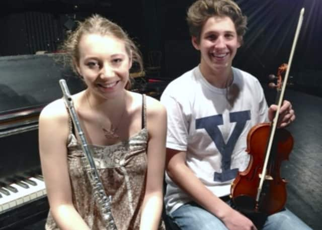 John Jay students Rachael Rodgers and Yanni Metaxas were recently honored by the New York State School Music Association.