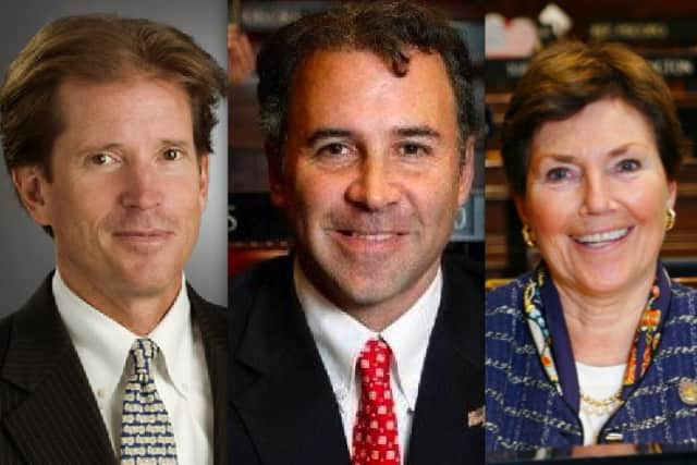From let, State Sen. L. Scott Frantz, State Rep. Frank Camillo and State Rep. Livvy Floren all expect gun control to be a serious topic of discussion at the statehouse in 2013.