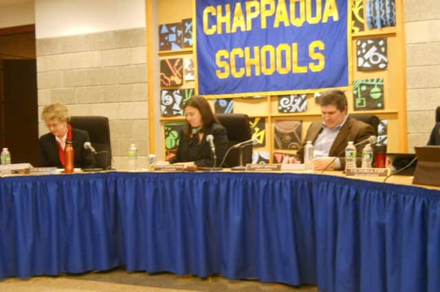 Chappaqua Schools Superintendent Lyn McKay, left, Board of Education Vice President Alyson Kiesel and Board of Education member Jeffrey Mester, among others, will meet with a safety consultant sometime this week.
