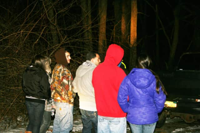 North Salem Police stopped eight teenagers from four-wheeling Thursday night.