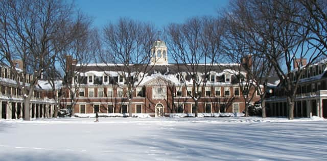 The Loomis Chaffee School campus. Two Pound Ridge residents made the school's winter honor roll.