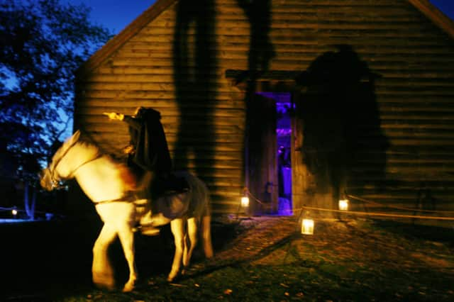 This is a view of the Horseman's Hollow last October at Philipsburg Manor in Sleepy Hollow.