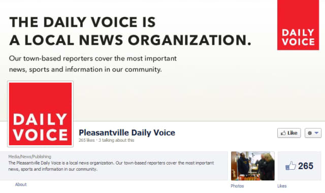 'Like' The Pleasantville Daily Voice's page on Facebook.