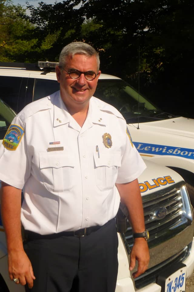Lewisboro Police Chief Frank Secret says he can't take credit for the town's decrease in reported property crimes.